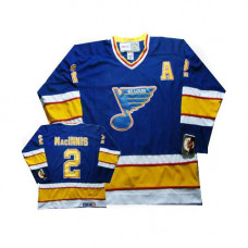 Al Macinnis St. Louis Blues CCM Authentic Throwback Blue Jersey
