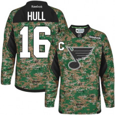 Brett Hull St. Louis Blues Authentic Veterans Day Practice Camo Jersey