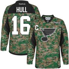 Brett Hull St. Louis Blues Premier Veterans Day Practice Camo Jersey