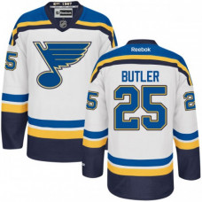 Kid's St. Louis Blues Chris Butler Authentic Away White Jersey