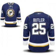 Chris Butler St. Louis Blues Premier Alternate Navy Blue Jersey