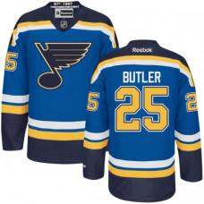 Chris Butler St. Louis Blues Premier Home Navy Blue Jersey