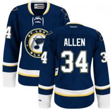 Jake Allen St. Louis Blues Women's Premier Alternate Royal Blue Jersey