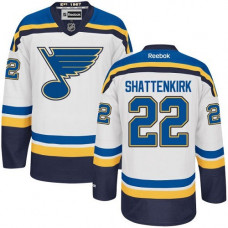 Kid's St. Louis Blues Kevin Shattenkirk Authentic Away White Jersey