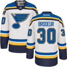 Kid's St. Louis Blues Martin Brodeur Authentic Away White Jersey
