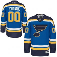 St. Louis Blues Men's Customized Authentic Royal Blue Home Jersey