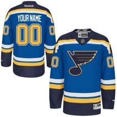 St. Louis Blues Men's Customized Premier Royal Blue Home Jersey
