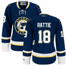 Ty Rattie St. Louis Blues Women's Authentic Alternate Royal Blue Jersey