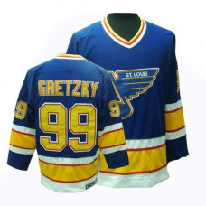 Wayne Gretzky St. Louis Blues CCM Premier Throwback Blue Jersey